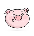 kissing emoticon icon emoji pig vector image