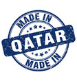 made in qatar blue grunge round stamp vector image vector image