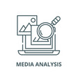 media analysis line icon linear concept vector image vector image