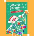 merry christmas hiding santa vector image vector image