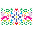 mexican folk art pattern vibrant design vector image vector image
