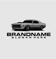 muscle car logo template vector image vector image