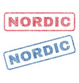 nordic textile stamps vector image vector image