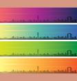 osaka multiple color gradient skyline banner vector image vector image