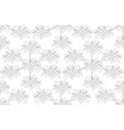 outline plumeria flower tree top view draw vector image vector image