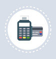 payment terminal credit card shopping icon concept vector image
