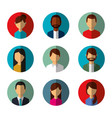 people avatars social media characters round icons vector image