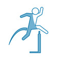 pictogram man practice athletics sport vector image vector image