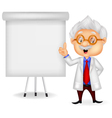 Professor teaching vector image vector image