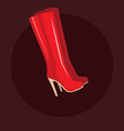 Red long women boots vector image vector image