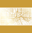 saint paul usa city map in retro style in golden vector image vector image