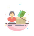 salary shopping basket shopping female flat color vector image