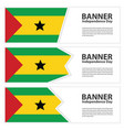 sao tome and principe flag banners collection vector image