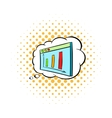 Screen with graph in speech cloud icon vector image vector image
