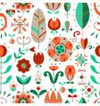 seamless pattern in scandinavian style vector image