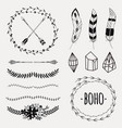 set with decorative ethnic elements vector image vector image
