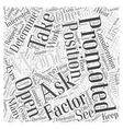 Should You Ask for a Promotion Word Cloud Concept vector image vector image