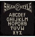 snake style gothic grunge alphabet vector image