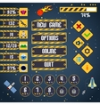 Space game interface vector image vector image