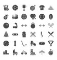 sport solid web icons vector image
