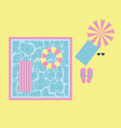 summer time vacation vector image