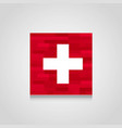 switzerland abstract flag background vector image