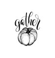 thanksgiving pumpkin hand sketch for vector image vector image