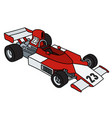 the red and white racecar vector image