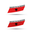 two modern colored flags albania vector image vector image
