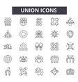 union line icons signs set linear vector image vector image