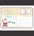 vintage christmas letter to santa claus vector image