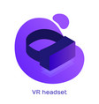 vr virtual reality glasses icon logo vector image