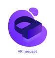 Vr virtual reality glasses icon logo