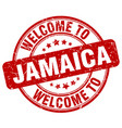 welcome to jamaica red round vintage stamp vector image vector image