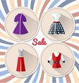 Womens clothing in retro 2 vector image vector image