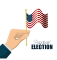 cartoon hand holding flag usa graphic vector image