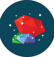 Shining gems wealth concept Flat design Icon in vector image