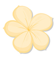 A five-petal yellow flower vector image vector image