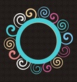 Abstract round ornament vector image vector image