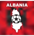 Albanian Abstract Map vector image vector image