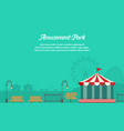 amusement park background with ornament vector image vector image