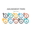 amusement park infographic design templateferris vector image