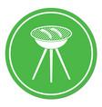barbecue sausage icon vector image vector image