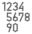 Bicycle chain numbers vector image
