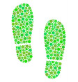 boot footprints collage of circles vector image vector image