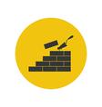 Brickwork silhouette vector image vector image
