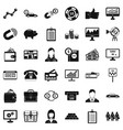 business safe icons set simple style vector image vector image
