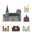 cartoon fairy tale castle tower icon cute vector image vector image