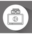 cinema online design vector image vector image