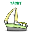 Collection of yacht transport art vector image